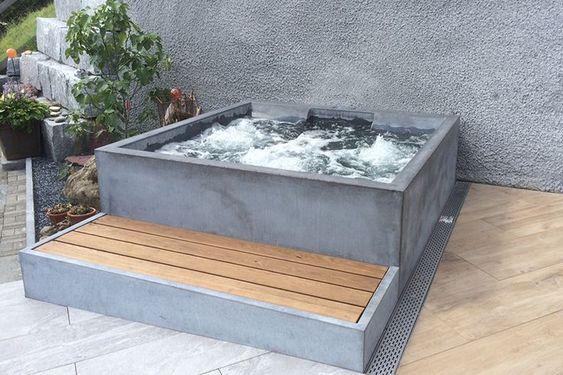 built in hot tub 12