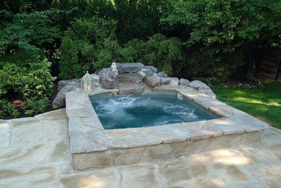 built in hot tub 16