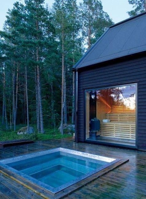 built in hot tub 19
