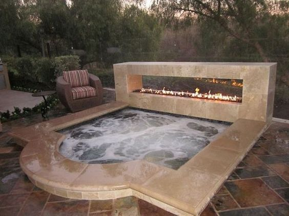 built in hot tub 20