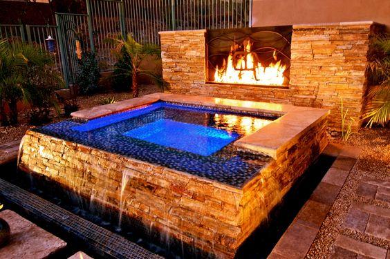 built in hot tub 21