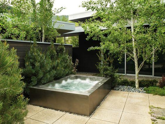 built in hot tub 9