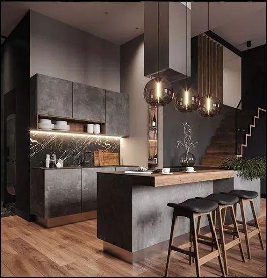 dark kitchen ideas 15