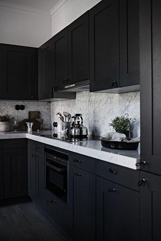Dark Kitchen Ideas: Earthy Monochrome Decor