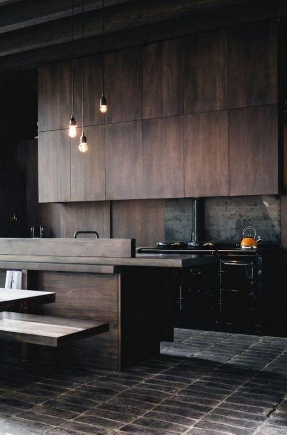 dark kitchen ideas 21