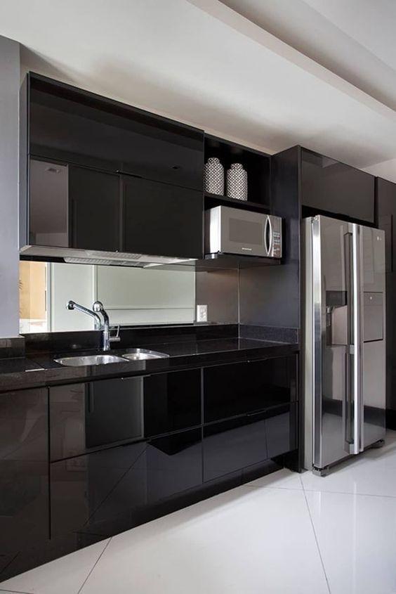 dark kitchen ideas 23