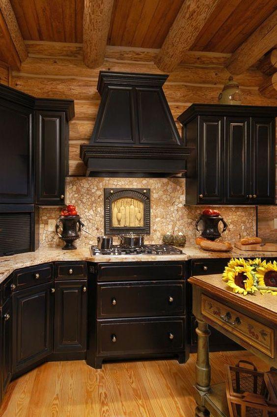 dark kitchen ideas 25