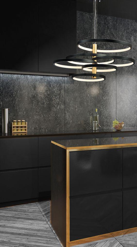 Dark Kitchen Ideas: Glamorous Contemporary Decor