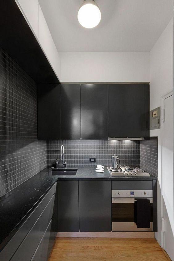 Dark Kitchen Ideas: Small Decorative Kitchen