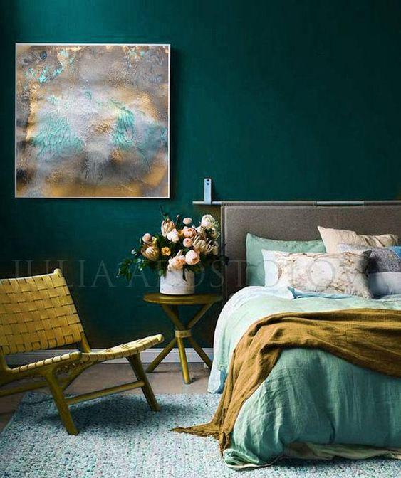 green bedroom ideas 14