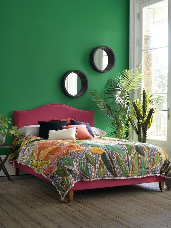 Green Bedroom Ideas: Pretty Blushing Decor