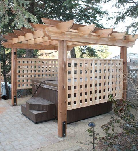 Hot Tub Privacy: Rustic Wood Gazebo