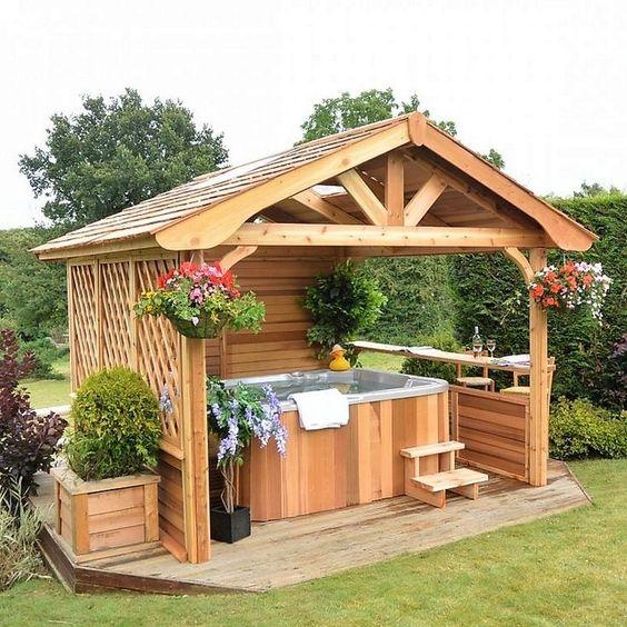 hot tub privacy 15