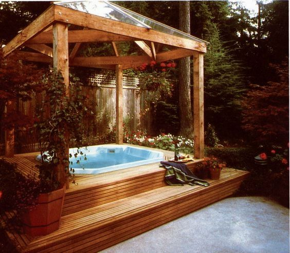 Hot Tub Privacy: Stunning Glass Canopy