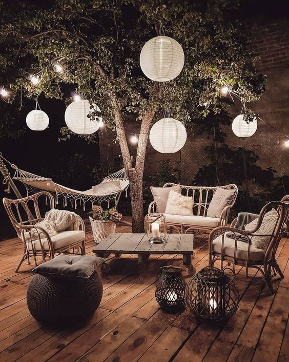 Patio Decor Ideas: Chic Sparkling Decor