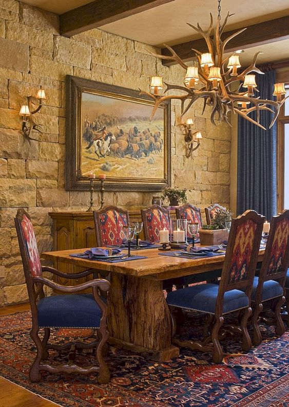 Rustic Dining Room: Bold Earthy Decor