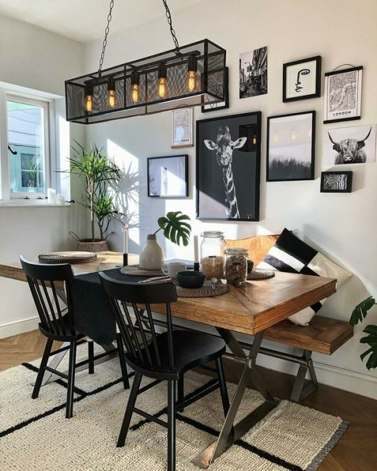 Rustic Dining Room: Gorgeous Gallery Decor