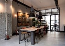 rustic dining room feature