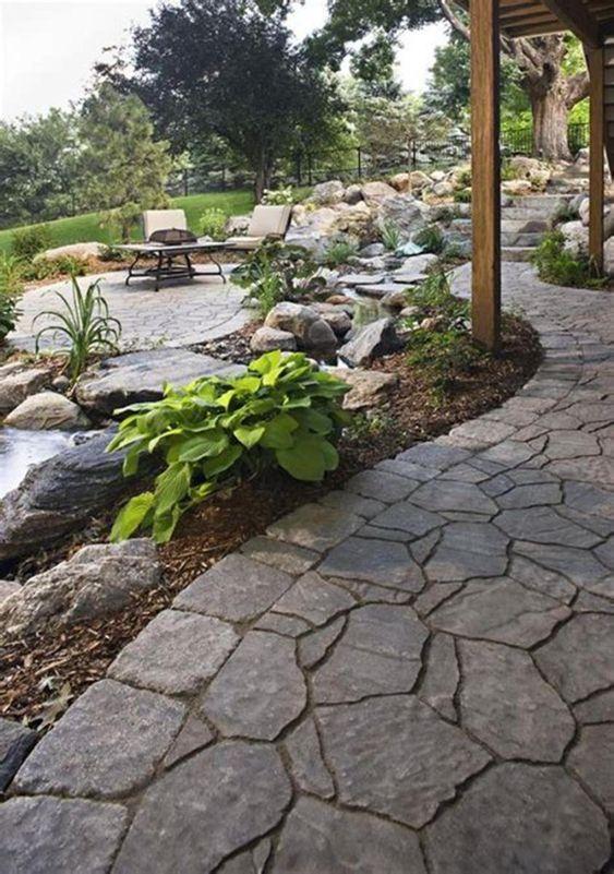 Stone Patio Ideas: Beautiful Spacious Patio