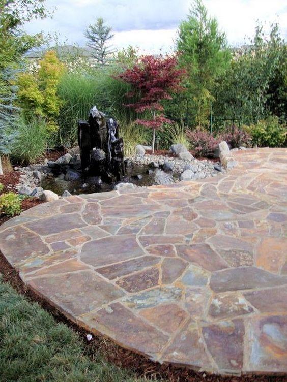 stone patio ideas 15