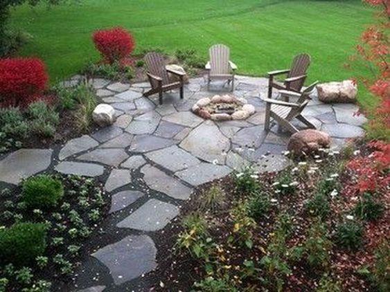 stone patio ideas 23