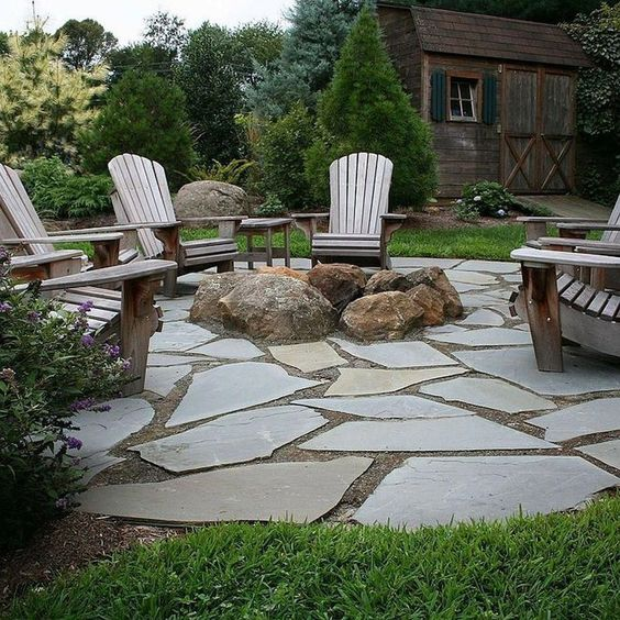 stone patio ideas 24