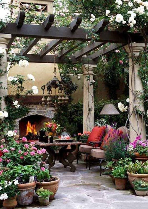 Stone Patio Ideas: Beautiful Cozy Patio