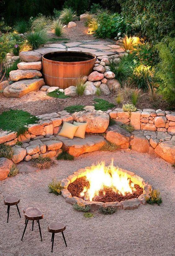 Stone Patio Ideas: Stunning Earthy Patio
