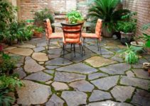stone patio ideas feature