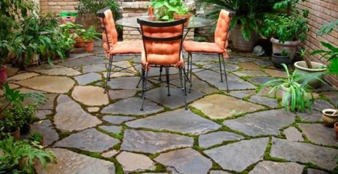 stone patio ideas feature