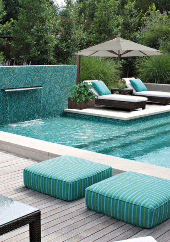 swimming pool with waterfalls 18