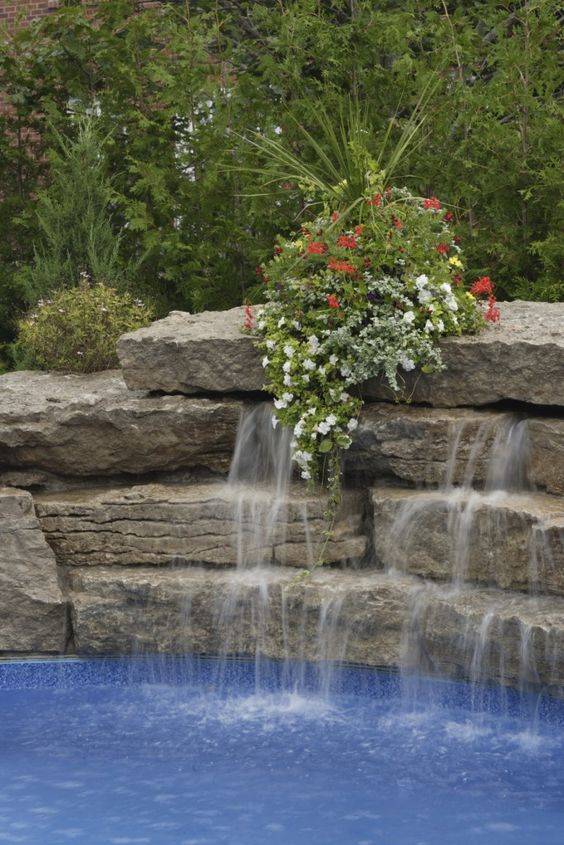 swimming pool with waterfalls 19