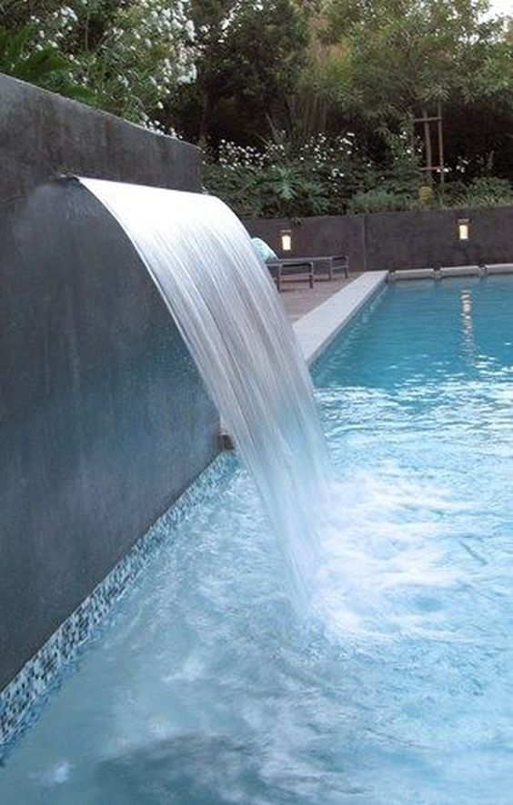 swimming pool with waterfalls 9