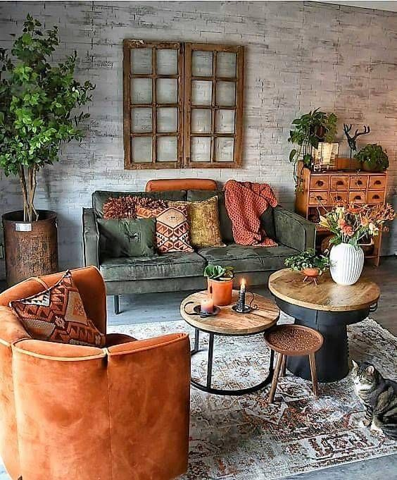warm living room ideas 13