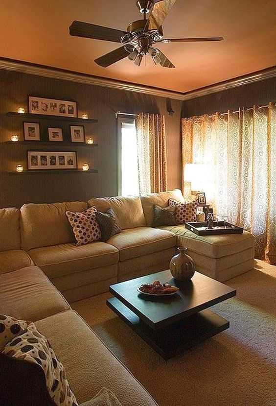 warm living room ideas 16