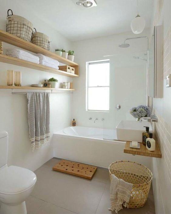 White Bathroom Ideas: Simple Earthy Decor