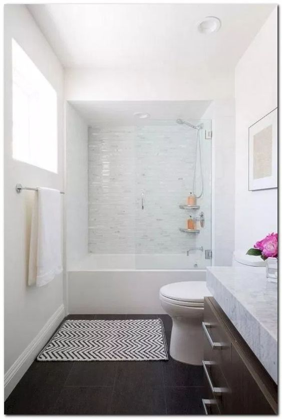 White Bathroom Ideas: Textured Monochrome Decor