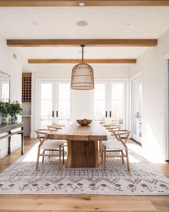 white dining room 14
