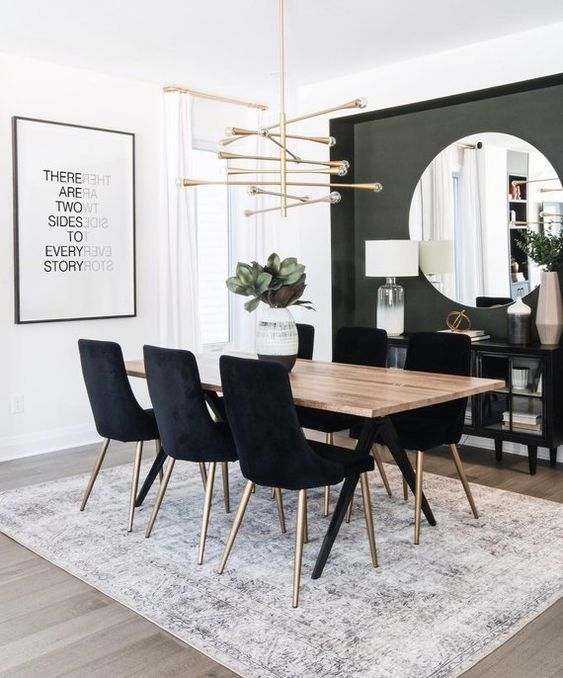White Dining Room: Earthy Monochrome Decor