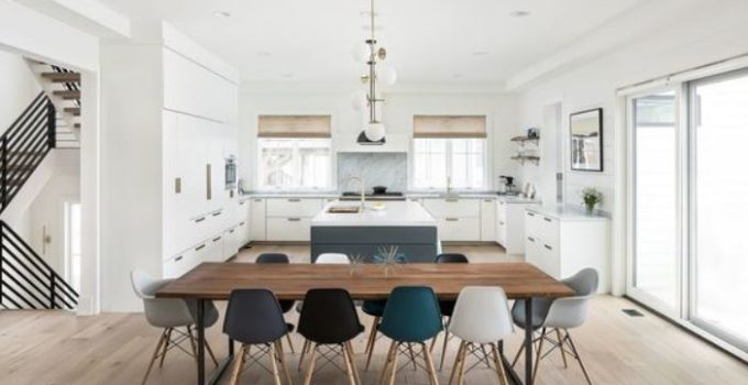 white dining room feature