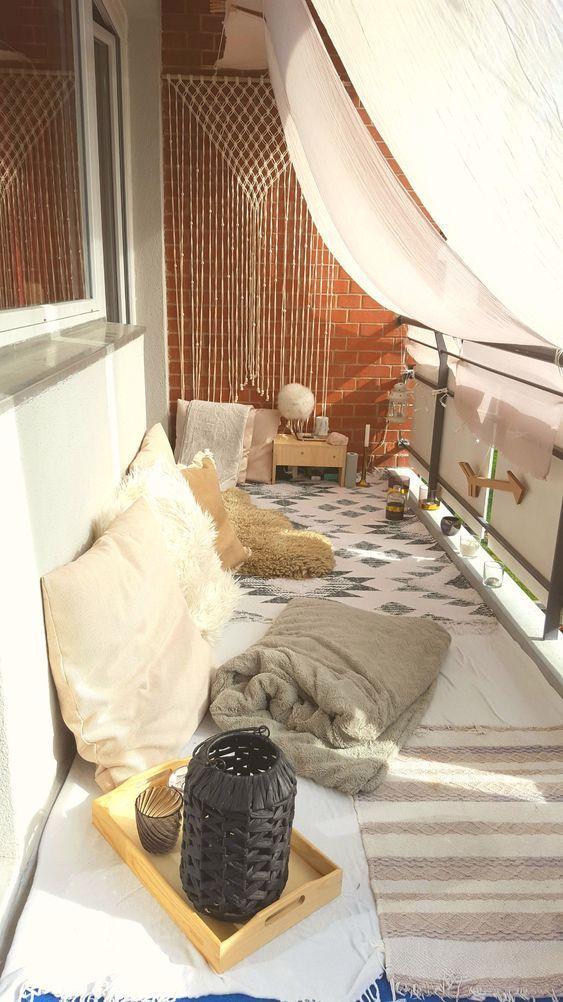 Apartment Patio Ideas: Chic Chairless Decor