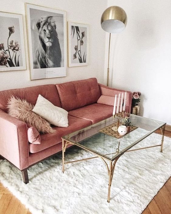 Pink Living Room: Simply Chic Decor