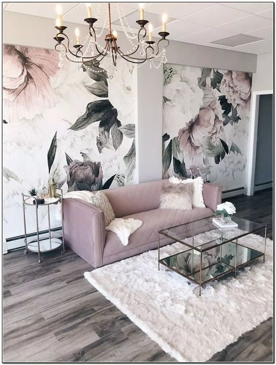 Pink Living Room: Strikingly Beautiful Decor