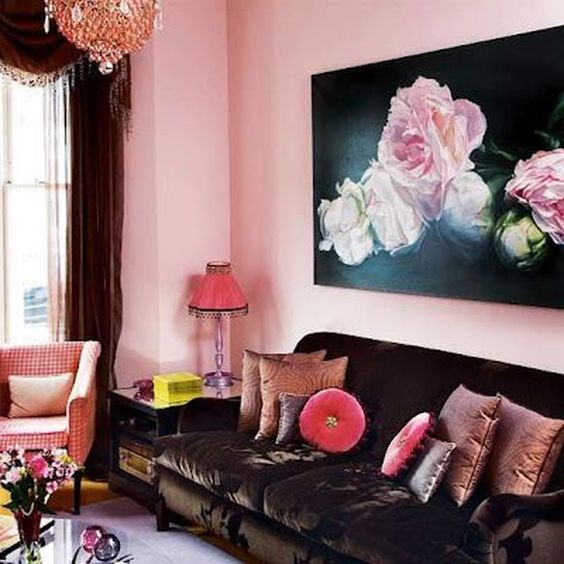 Pink Living Room: Boldly Colorful Decor
