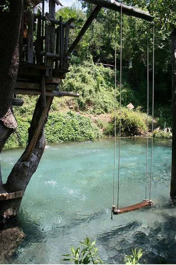 Backyard Swimming Pools: Cozy Natural Pool