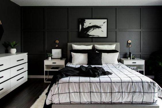 black bedroom ideas 25