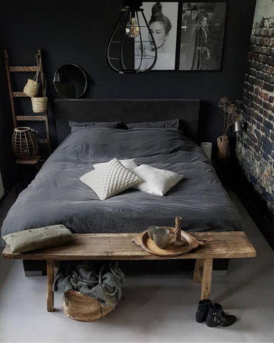 Black Bedroom Ideas: Gorgeous Rustic Decor