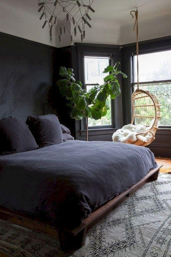 Black Bedroom Ideas: Earthy Monochrome Decor