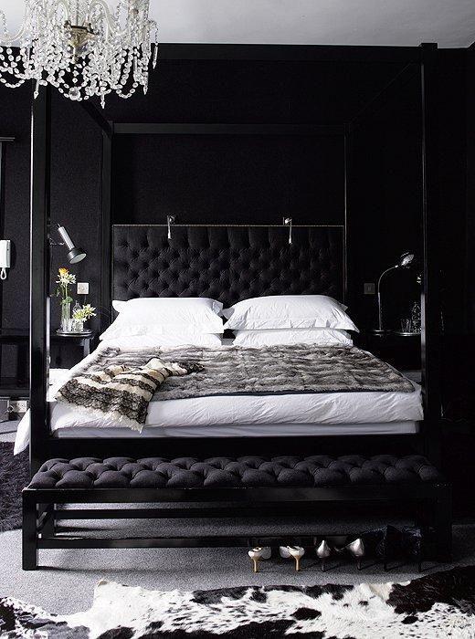 Black Bedrooms Decor: Chic Glamorous Decor