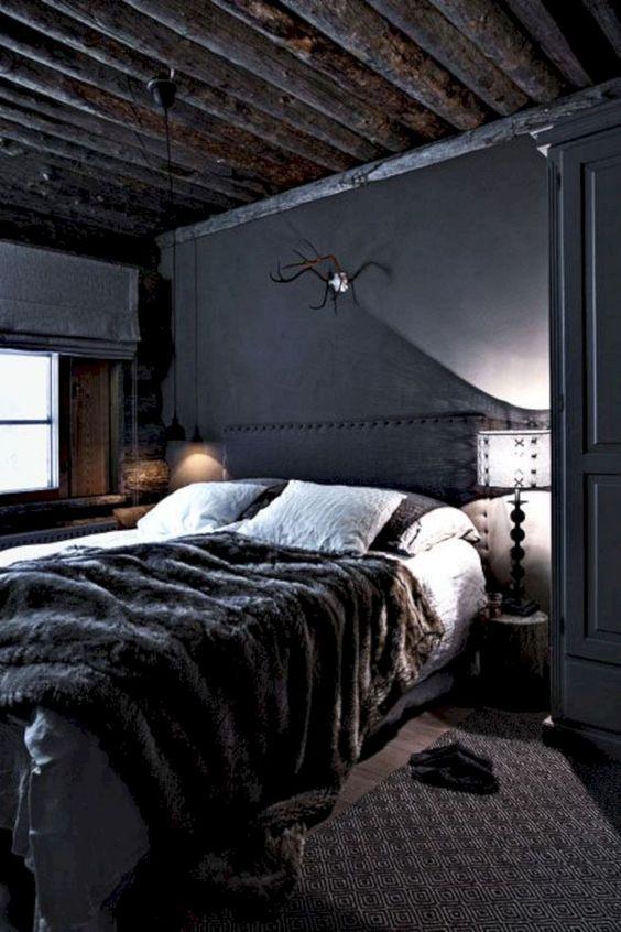 Black Bedrooms Decor: Unique Rustic Decor